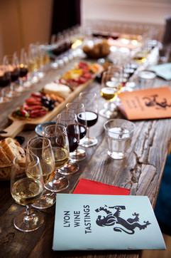 Look at this gorgeous table with our wines and cheese spread