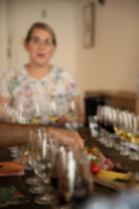 Caroline Conner at Lyon Wine Tastings