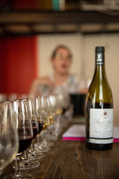See my mouth is always open! I love this Saint-Amour Beaujolais, tastes like juice.