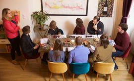 Guests enjoying Lyon Wine Tastings