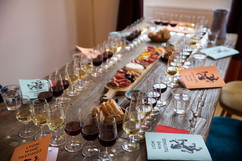 Another perspective on my gorgeous table set for Lyon Wine Tastings