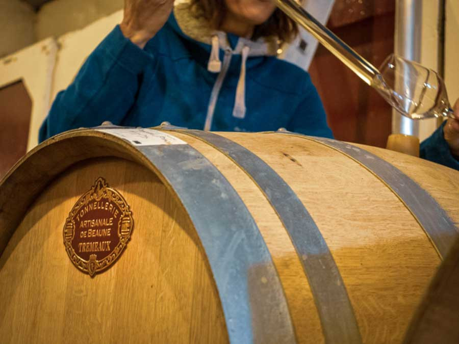 beaujolais wine region barrel