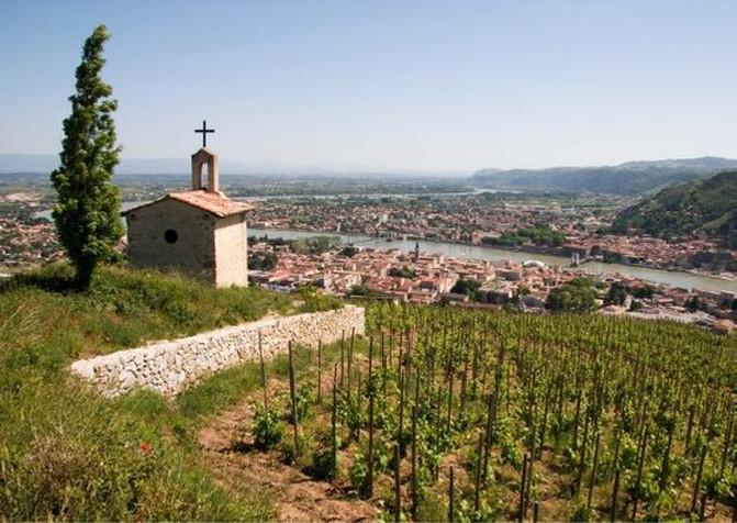 Hermitage vineyard northern rhone wine region