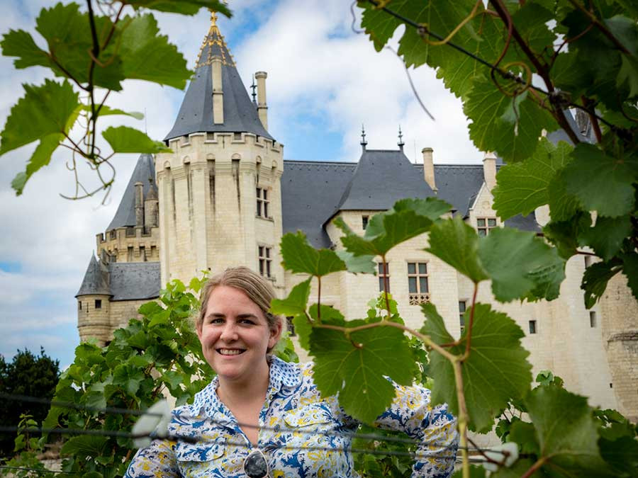 Saumur Chateau in the Loire wine region