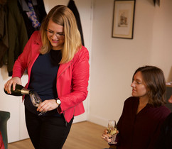 We always start with local bubbles to get the wine tasting going