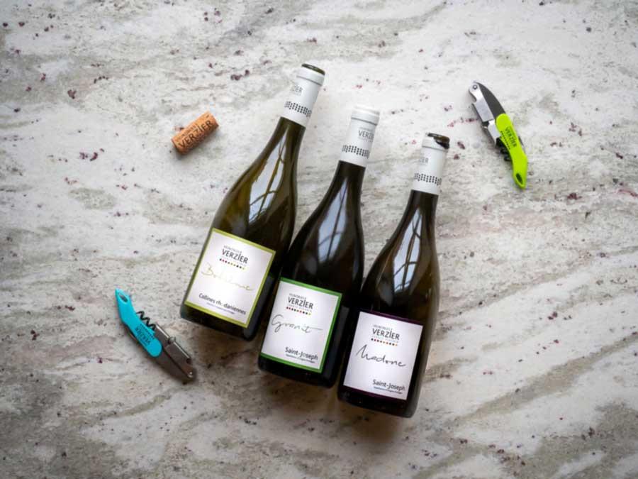 northern rhone wine region bottles