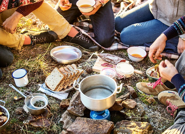 Ontbijt op de camping