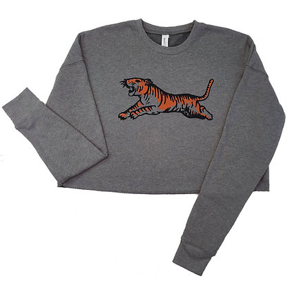Jungle Cat Cropped Sweatshirt