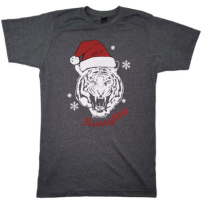 Red Santa Hat Auburn Tiger Naughty T Shirt