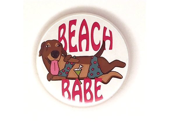 Anabell Beach Babe Button