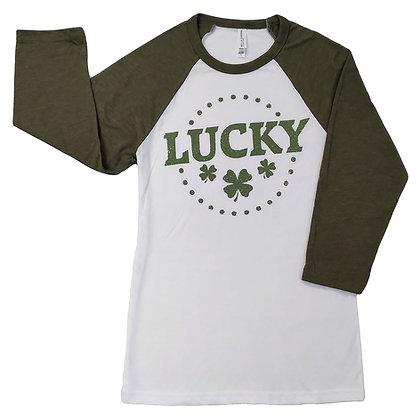 Lucky Baseball T Shirt