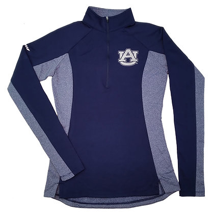 Navy Ladies Sport Performance Wicking Longsleeve Pullover Auburn University AU Design