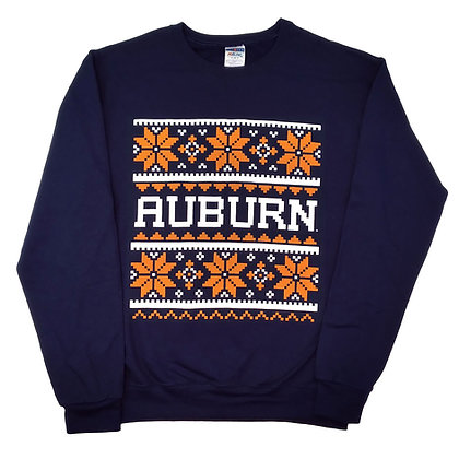 Navy Sweatshirt Auburn Tigers Christmas Holiday Design
