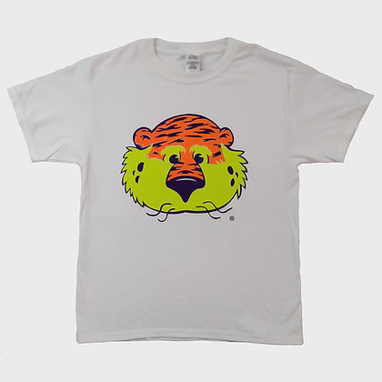 White Neon Aubie the Tiger Youth T Shirt