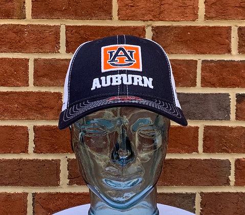 Zephyr Navy Square Auburn Tigers Logo Mesh Snapback Hat