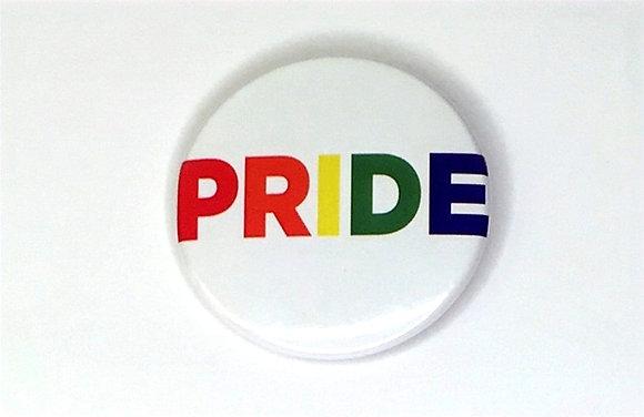Pride Rainbow Letters Button