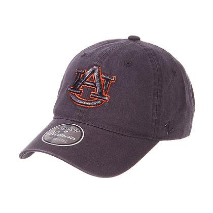 Auburn University Ladies Baseball Cap in Navy with AU design Front View