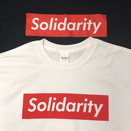 White and Black Solidarity T Shirts