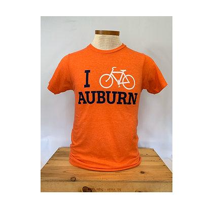 I Bike Auburn T Shirt