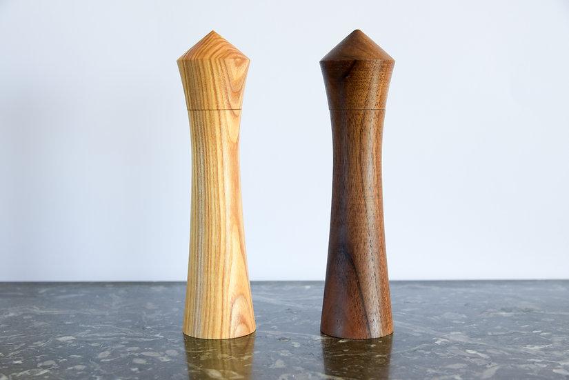 Moulins à poivre et sel - Broyeur Céramique -  Noyer ou Frêne