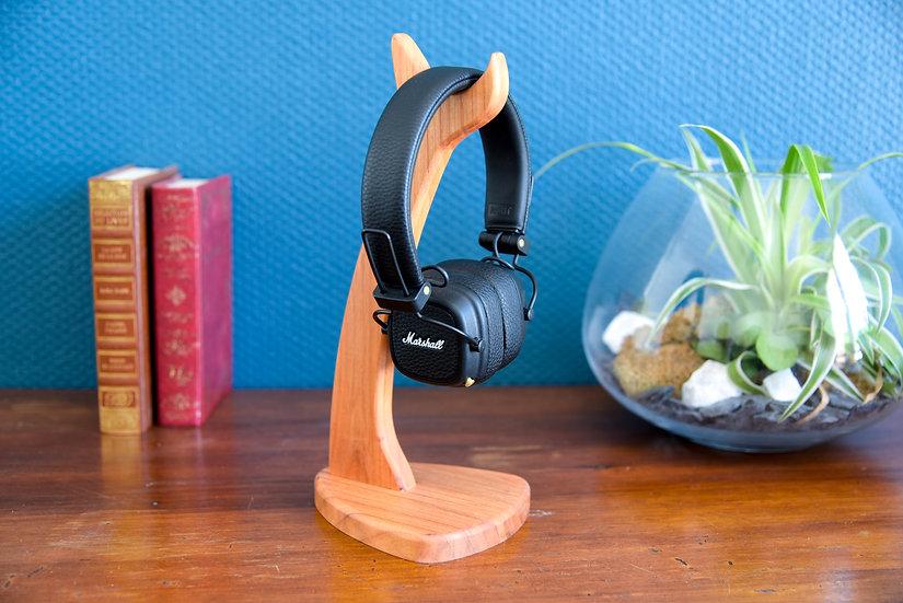 Support casque audio - Merisier