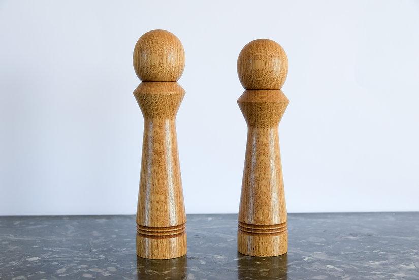 Moulins à poivre et sel - Broyeur Céramique - Chêne