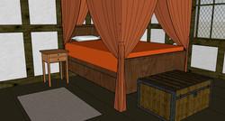 Tudor Cottage Bedchamber