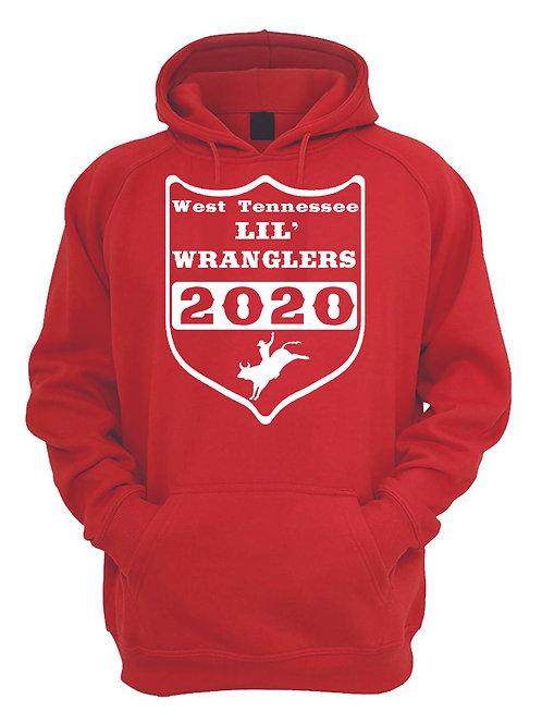 Lil' Wranglers Design 3 hoodie - Red