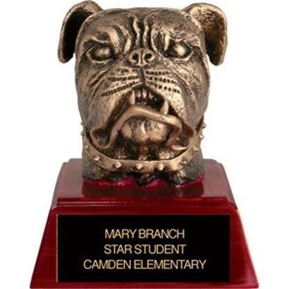 Sculpted Bulldog Trophy