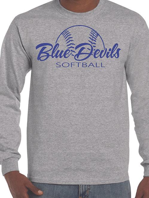 Harriman softball long sleeve  (design 2 ) -gray
