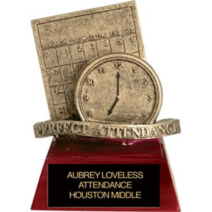 Sculpted Perfect Attendance Trophy