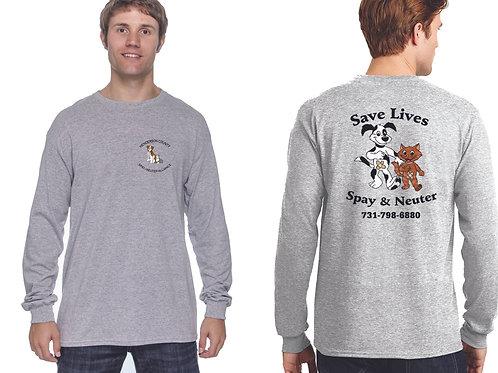 Sport gray long sleeve Henderson Co. Spay/Neuter Alliance