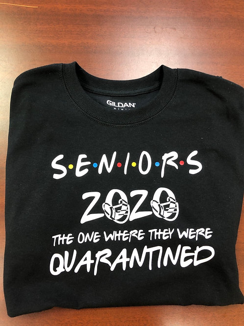 Seniors Quarantine 2020 T-shirt BLACK