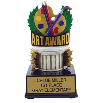Art Award Scholastic Color Trophy