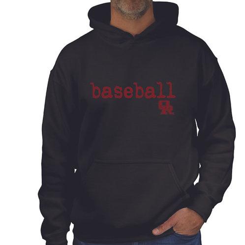 Black pullover hoodie - Qwerty design