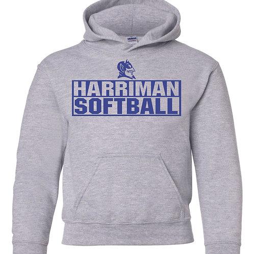 Harriman softball hoodie  (design 3 ) -gray