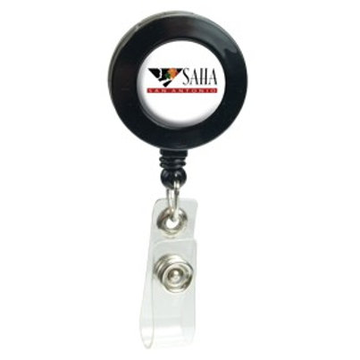 Retractable Domed Badge Holder - Round - Box of 250