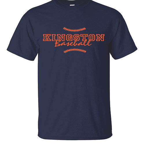 Kingston Baseball t-shirt design 1 Navy