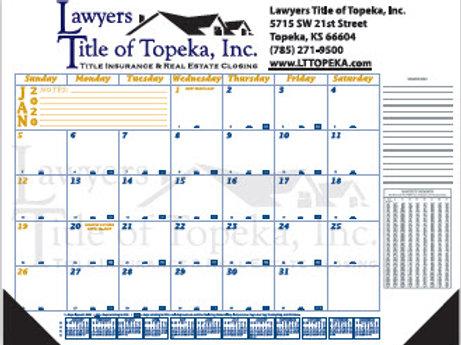 Desk Calendar Pads - Box of 100