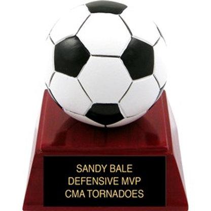 Sculpted Color Soccer Trophy