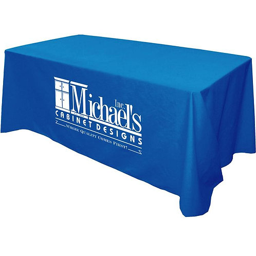 Table Cloth - 3 sided; 6' - 1 color