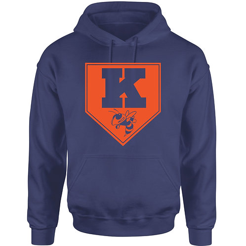 Kingston Baseball Hoodie design 2 Navy