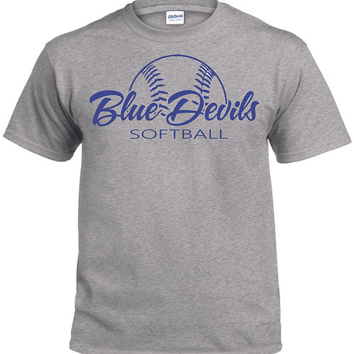 Harriman softball t-shirt  (design 2 ) - gray