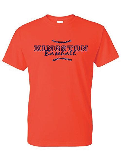 Kingston Baseball t-shirt design 1 orange