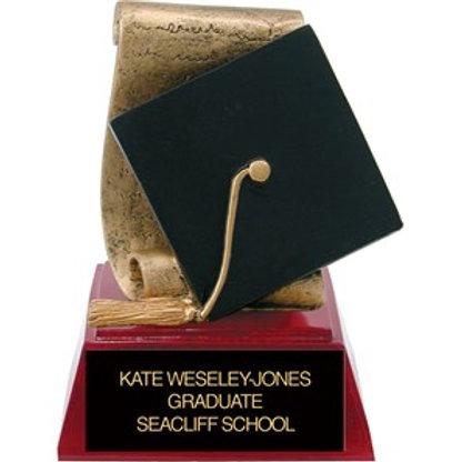 Sculpted Grad Cap Trophy