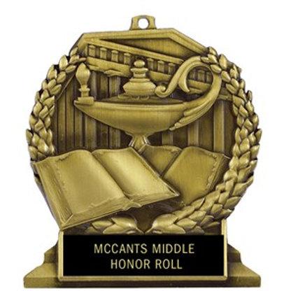 Lamp and Book Desktop Medal