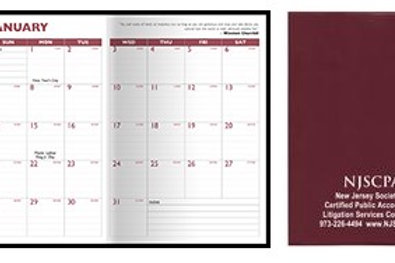7 x 10 Standard Vinyl Cover Monthly Planner- Box of 100