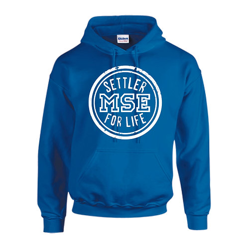 Settler for life hoodie (Available in white, blue, or gray)