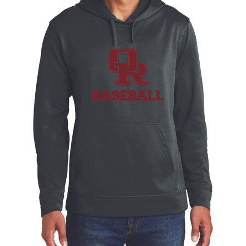 Lightweight athletic black hoodie - Traditional design