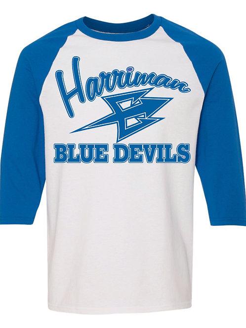 Harriman Blue Devil 3-quarter sleeve shirt
